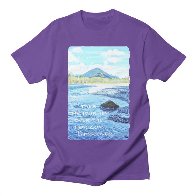 Take the Journey Men's Regular T-Shirt by Of The Wild by Kimberly J Tilley
