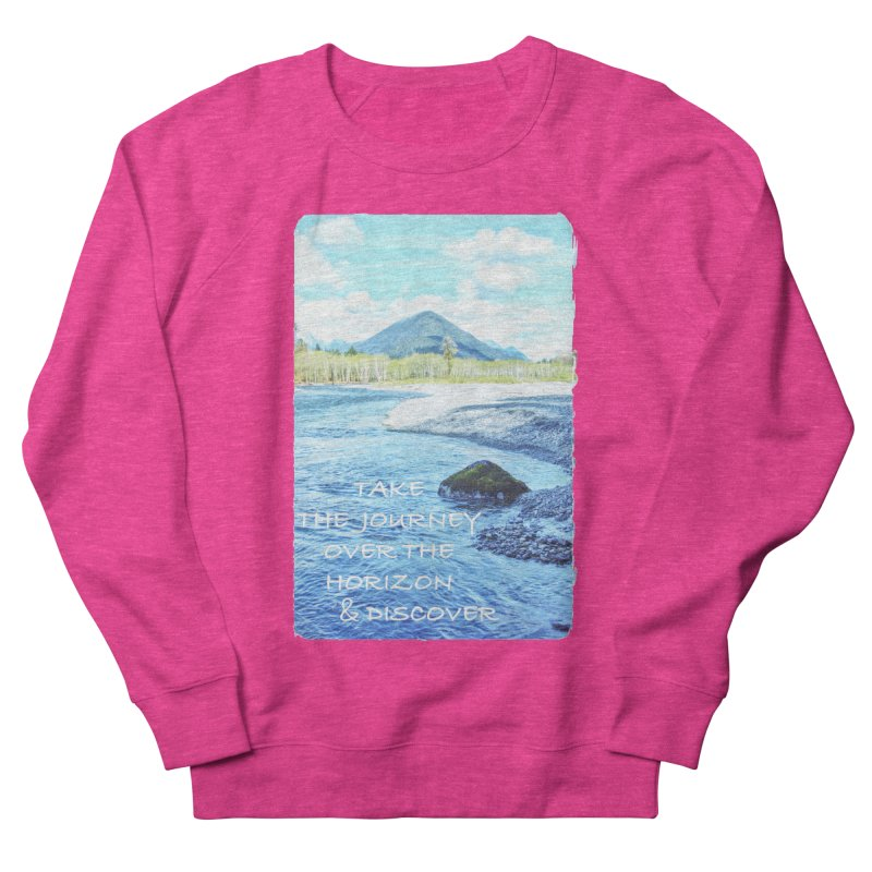 Take the Journey Men's French Terry Sweatshirt by Of The Wild by Kimberly J Tilley