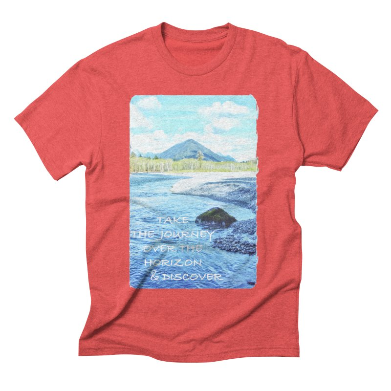 Take the Journey Men's Triblend T-Shirt by Of The Wild by Kimberly J Tilley