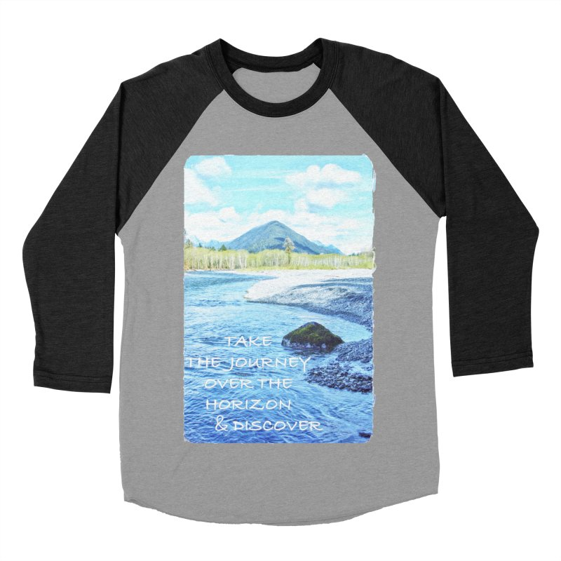 Take the Journey Women's Baseball Triblend Longsleeve T-Shirt by Of The Wild by Kimberly J Tilley