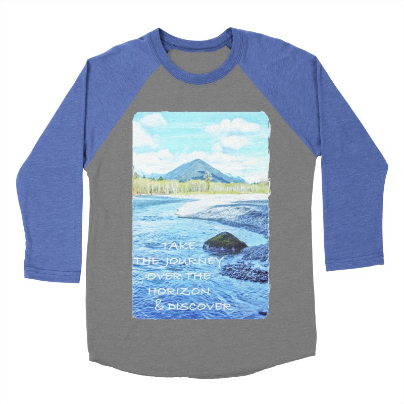 Take the Journey Men's Baseball Triblend Longsleeve T-Shirt by Of The Wild by Kimberly J Tilley
