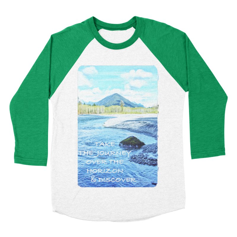 Take the Journey Men's Baseball Triblend T-Shirt by Of The Wild by Kimberly J Tilley