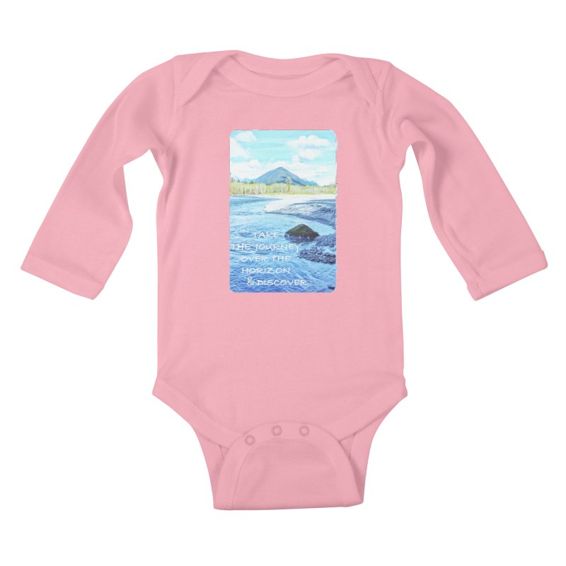 Take the Journey Kids Baby Longsleeve Bodysuit by Of The Wild by Kimberly J Tilley