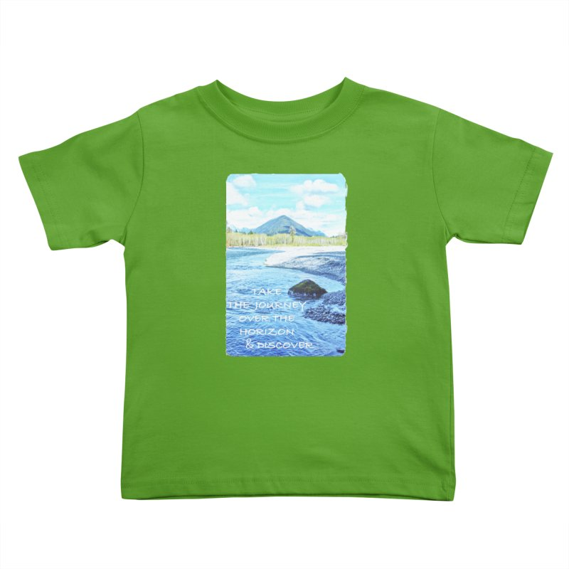 Take the Journey Kids Toddler T-Shirt by Of The Wild by Kimberly J Tilley