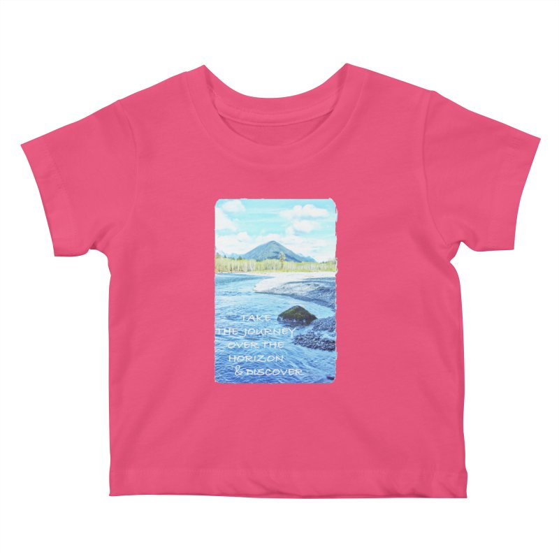 Take the Journey Kids Baby T-Shirt by Of The Wild by Kimberly J Tilley