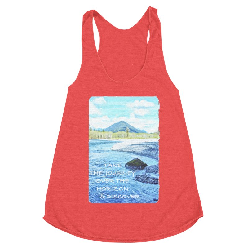 Take the Journey Women's Racerback Triblend Tank by Of The Wild by Kimberly J Tilley