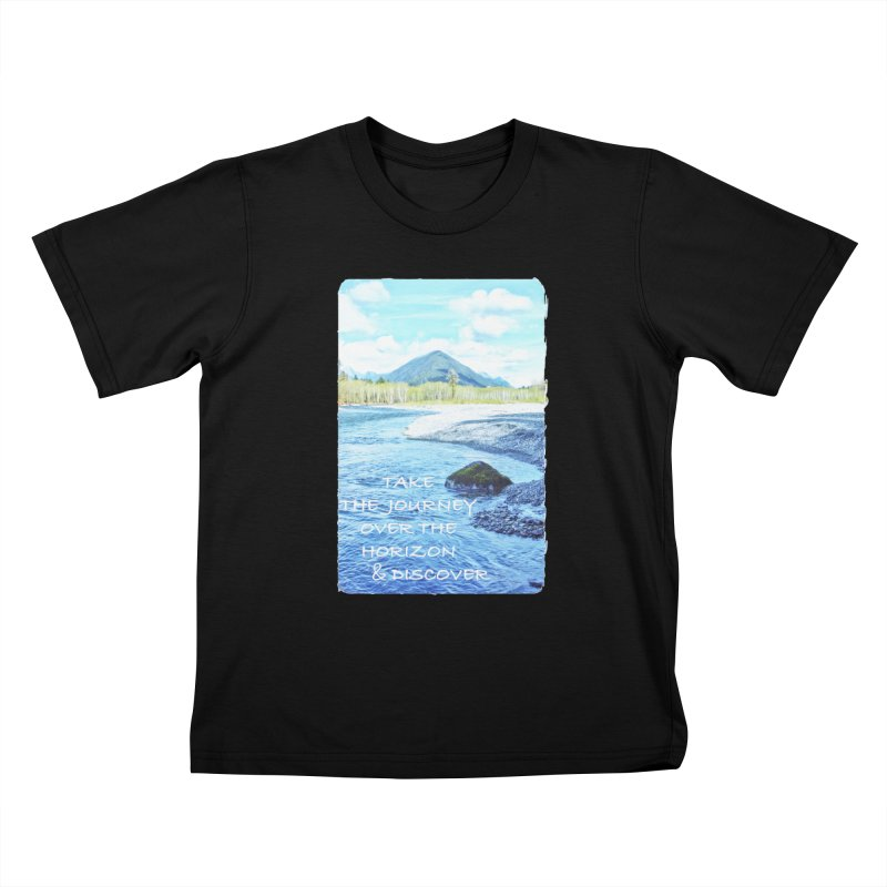 Take the Journey Kids T-Shirt by Of The Wild by Kimberly J Tilley