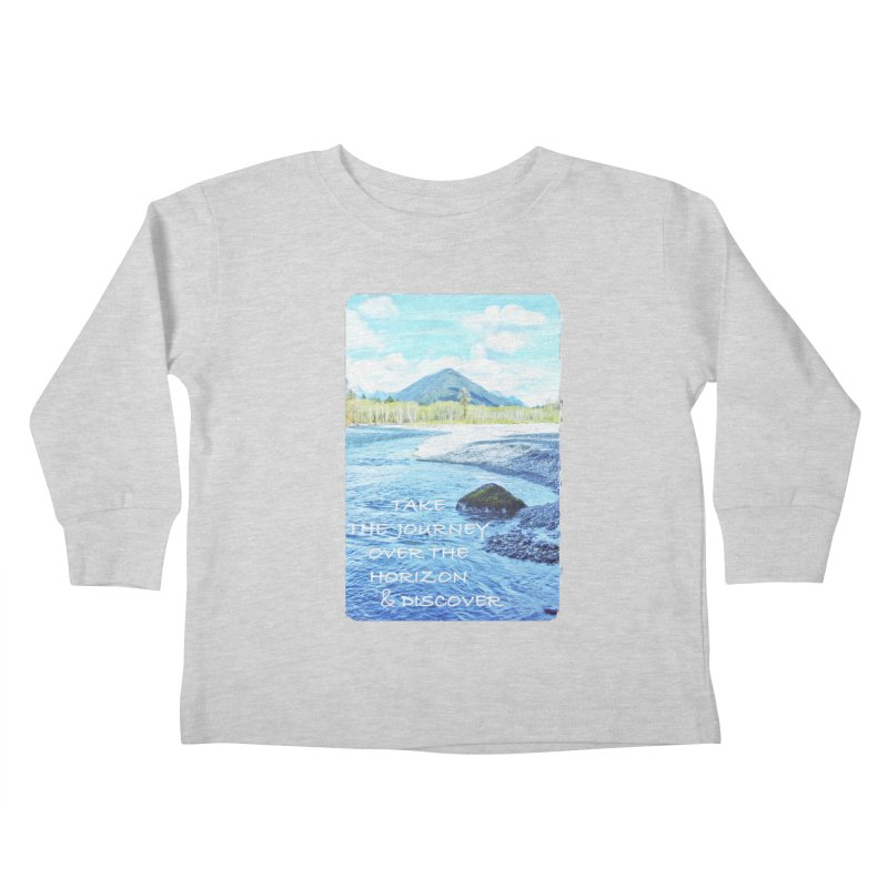 Take the Journey Kids Toddler Longsleeve T-Shirt by Of The Wild by Kimberly J Tilley