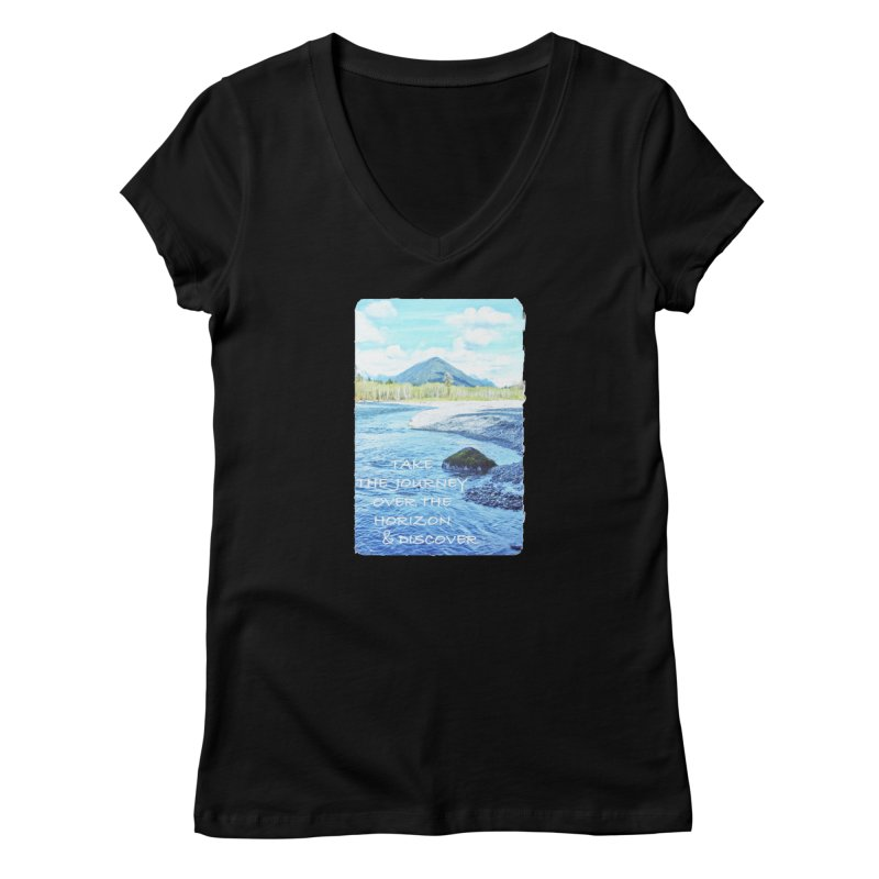 Take the Journey Women's V-Neck by Of The Wild by Kimberly J Tilley
