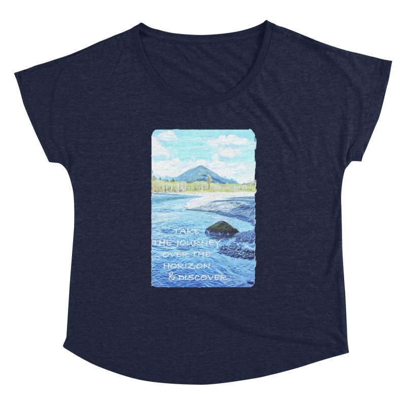 Take the Journey Women's Dolman Scoop Neck by Of The Wild by Kimberly J Tilley