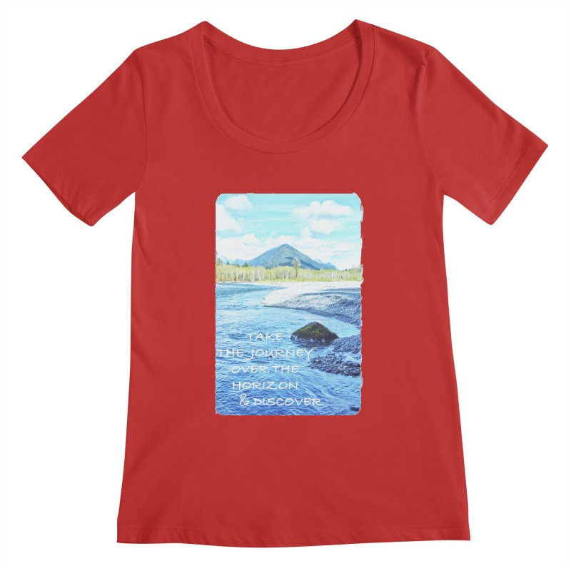 Take the Journey Women's Regular Scoop Neck by Of The Wild by Kimberly J Tilley