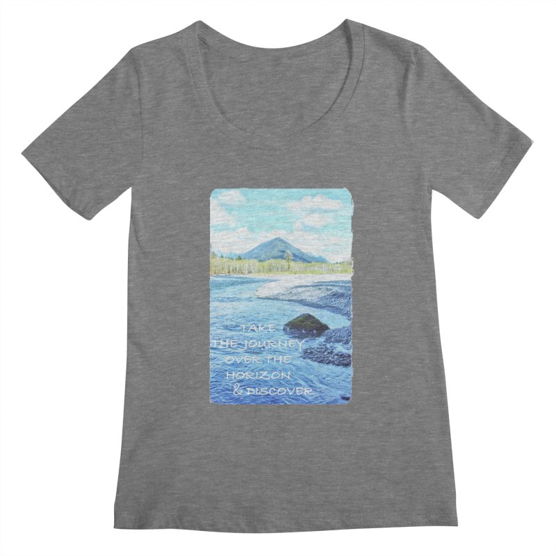 Take the Journey Women's Scoopneck by Of The Wild by Kimberly J Tilley