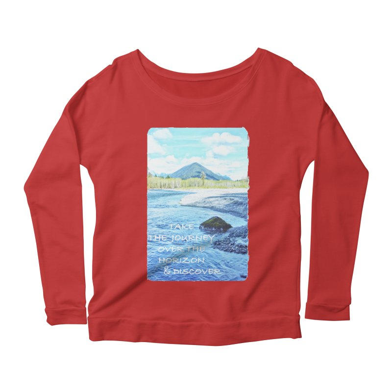 Take the Journey Women's Scoop Neck Longsleeve T-Shirt by Of The Wild by Kimberly J Tilley