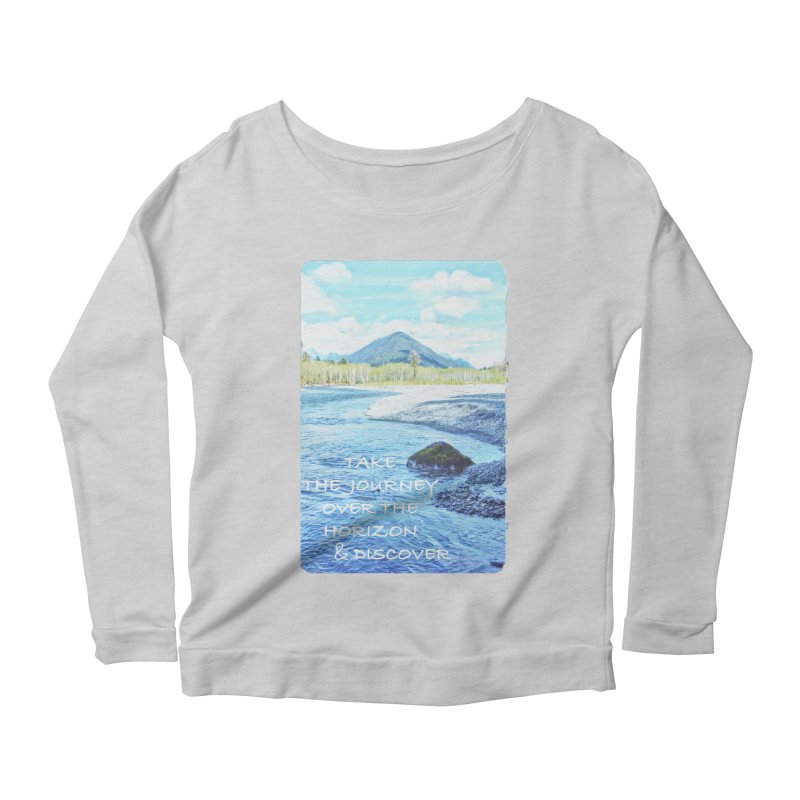 Take the Journey Women's Longsleeve Scoopneck  by Of The Wild by Kimberly J Tilley