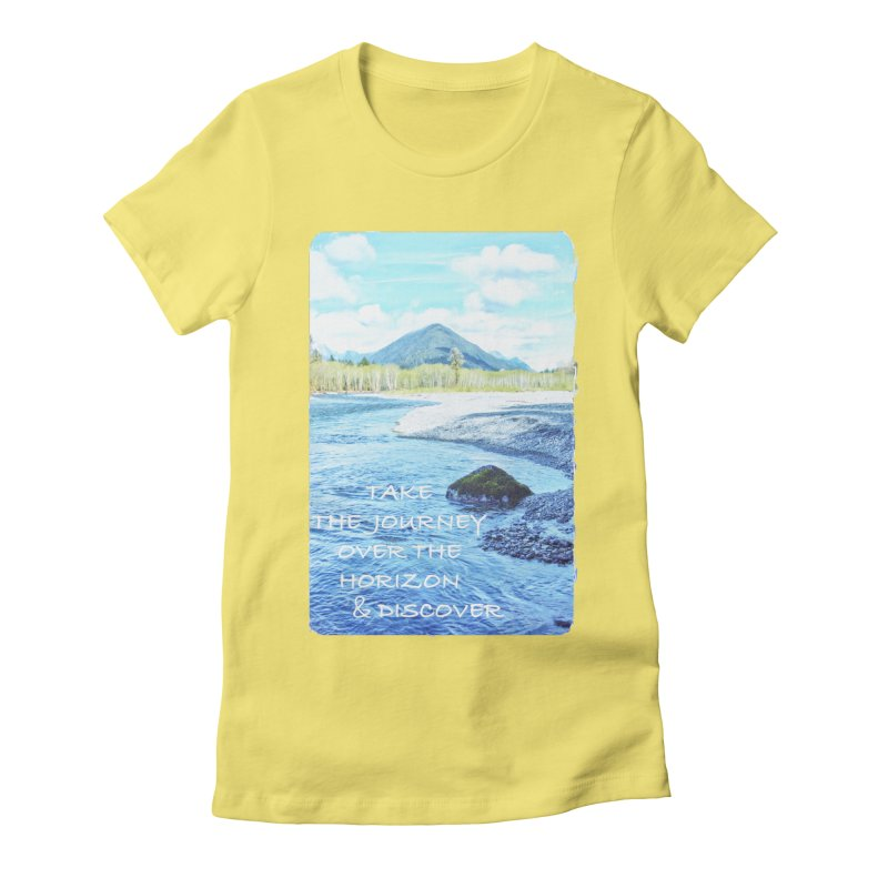 Take the Journey Women's Fitted T-Shirt by Of The Wild by Kimberly J Tilley