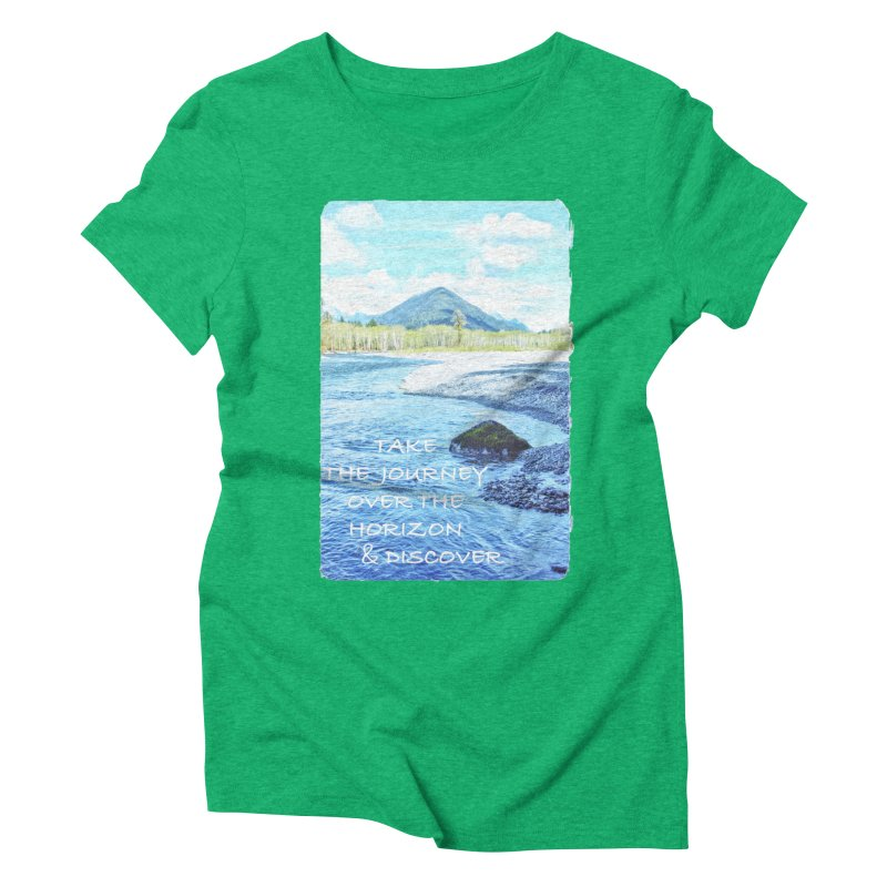 Take the Journey Women's Triblend T-Shirt by Of The Wild by Kimberly J Tilley
