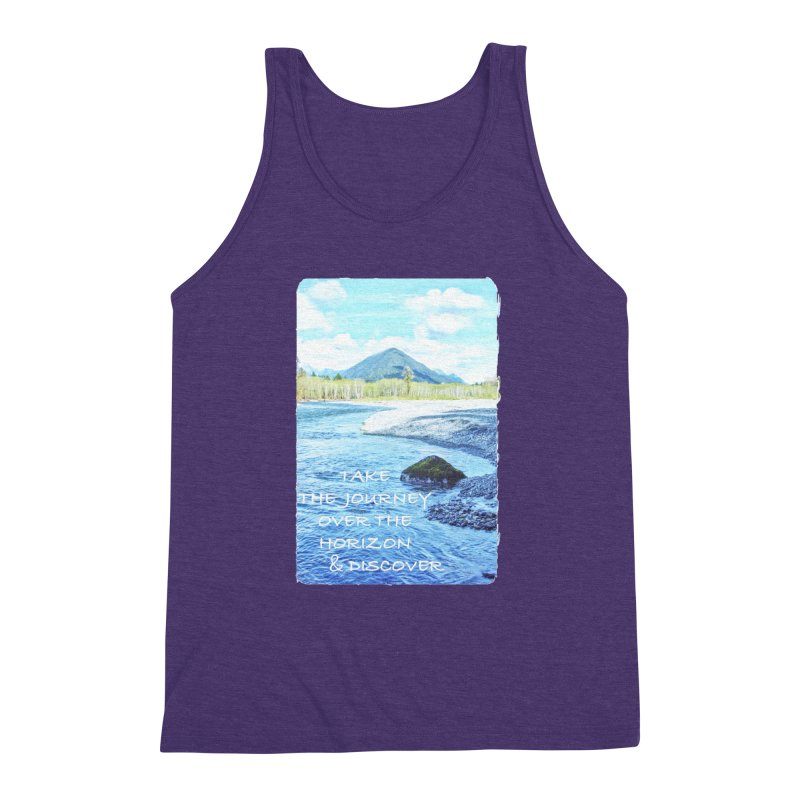 Take the Journey Men's Triblend Tank by Of The Wild by Kimberly J Tilley