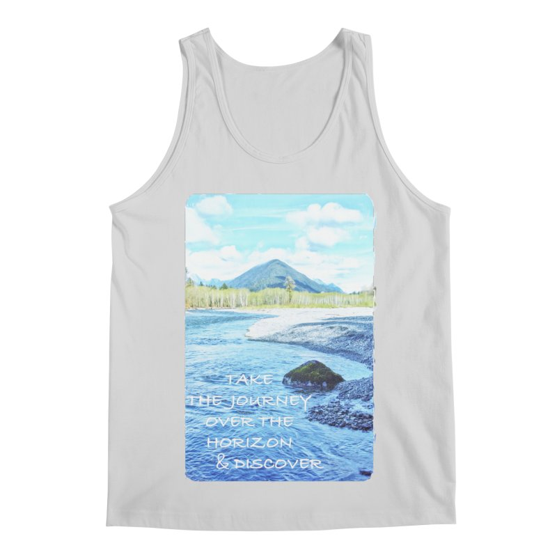 Take the Journey Men's Regular Tank by Of The Wild by Kimberly J Tilley
