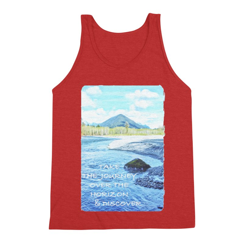 Take the Journey Men's Tank by Of The Wild by Kimberly J Tilley