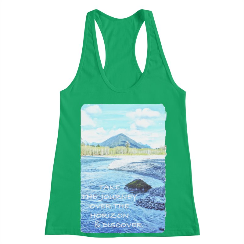 Take the Journey Women's Racerback Tank by Of The Wild by Kimberly J Tilley