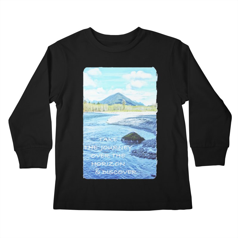 Take the Journey Kids Longsleeve T-Shirt by Of The Wild by Kimberly J Tilley