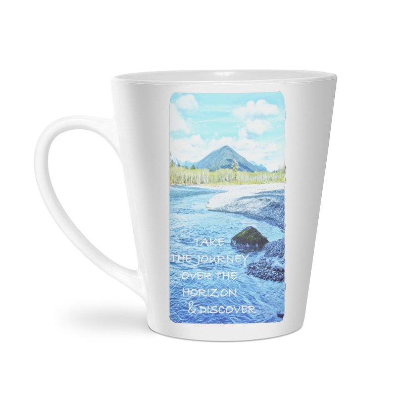 Take the Journey Accessories Latte Mug by Of The Wild by Kimberly J Tilley