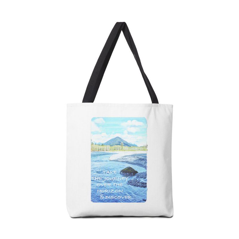 Take the Journey Accessories Tote Bag Bag by Of The Wild by Kimberly J Tilley
