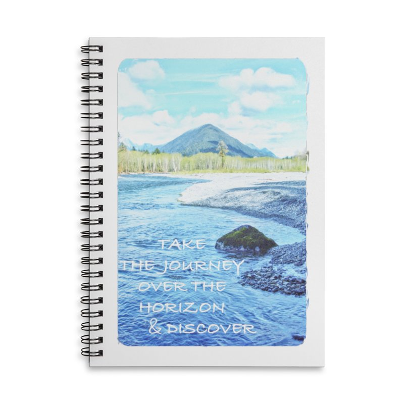 Take the Journey Accessories Lined Spiral Notebook by Of The Wild by Kimberly J Tilley