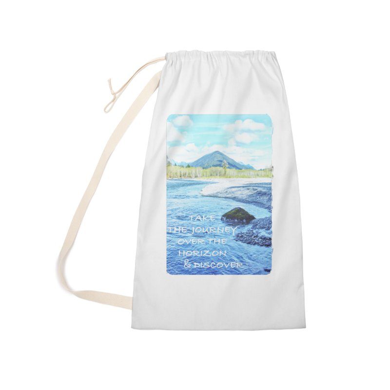 Take the Journey Accessories Laundry Bag Bag by Of The Wild by Kimberly J Tilley