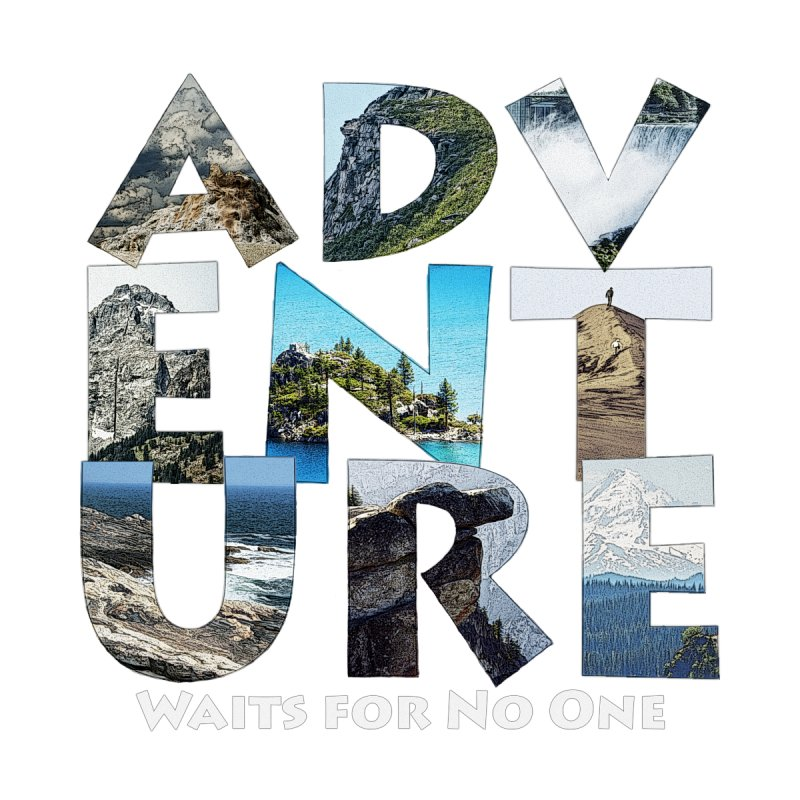 Adventure Waits for No One Accessories Zip Pouch by Of The Wild by Kimberly J Tilley