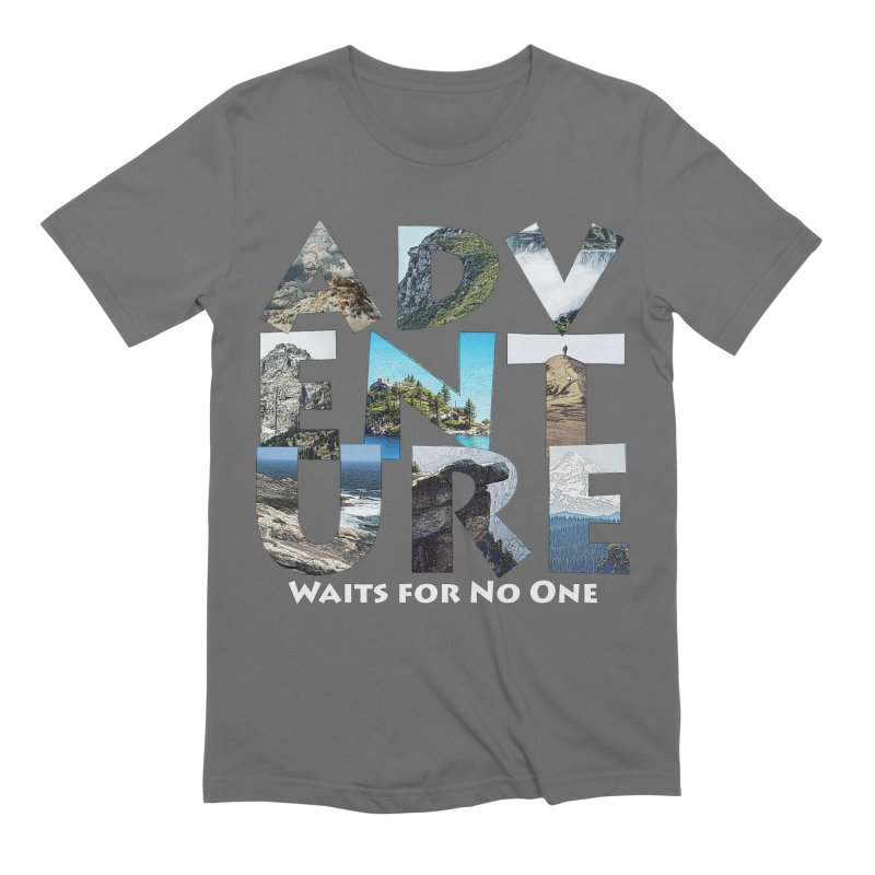 Adventure Waits for No One Men's T-Shirt by Of The Wild by Kimberly J Tilley