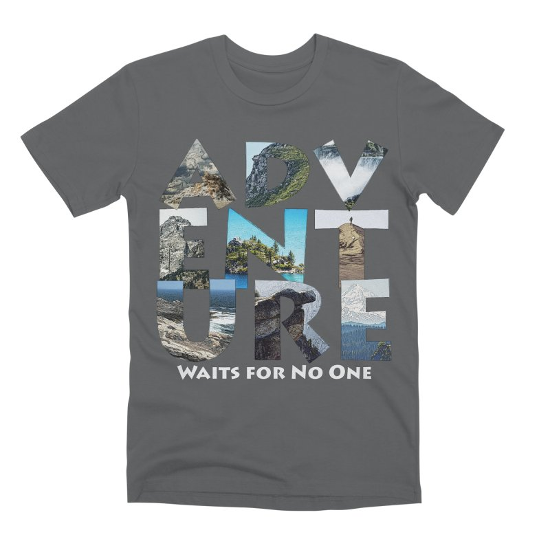 Adventure Waits for No One Men's Premium T-Shirt by Of The Wild by Kimberly J Tilley