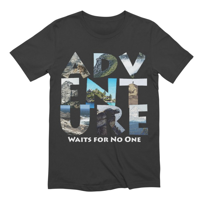 Adventure Waits for No One Men's Extra Soft T-Shirt by Of The Wild by Kimberly J Tilley