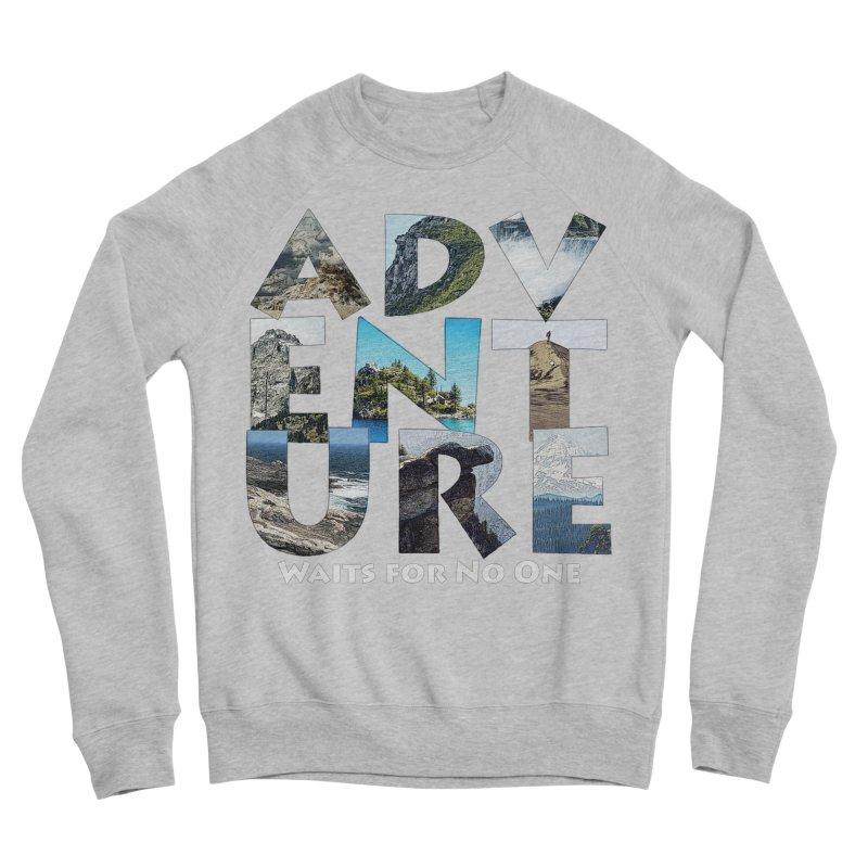 Adventure Waits for No One Men's Sponge Fleece Sweatshirt by Of The Wild by Kimberly J Tilley