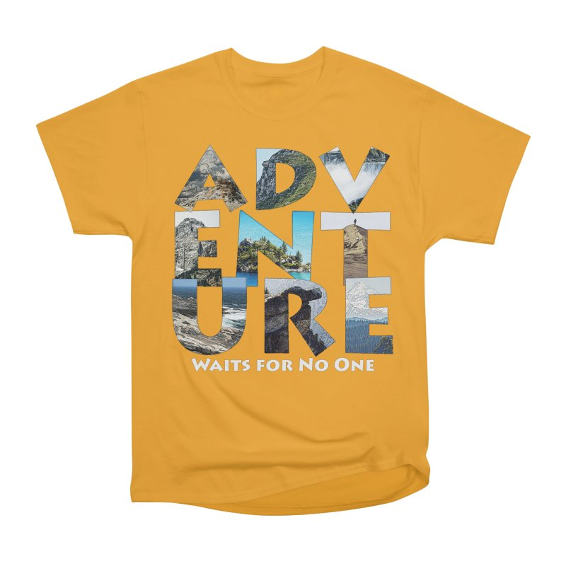 Adventure Waits for No One Men's Heavyweight T-Shirt by Of The Wild by Kimberly J Tilley
