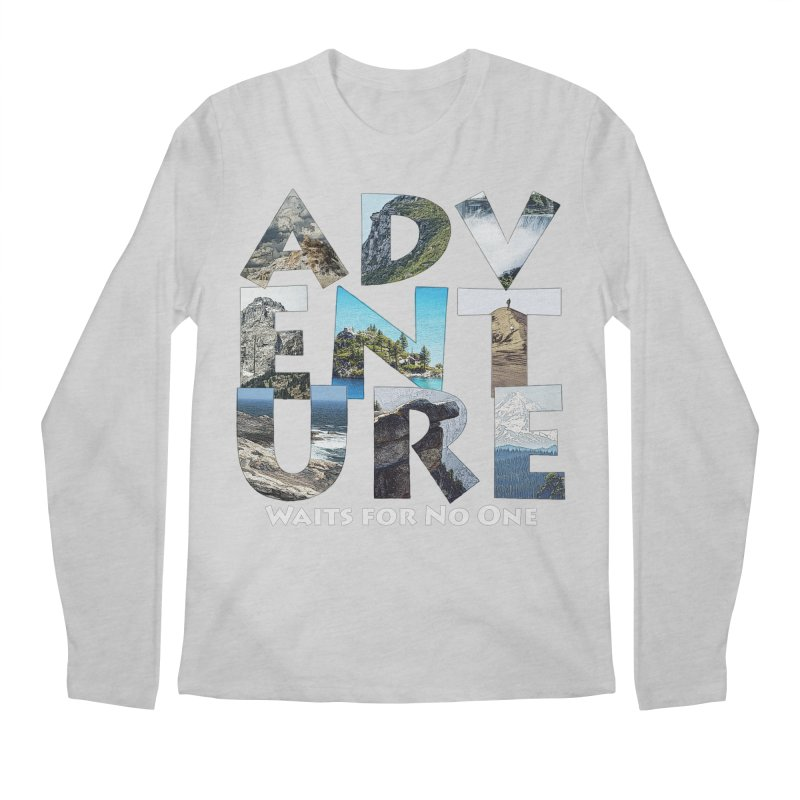 Adventure Waits for No One Men's Regular Longsleeve T-Shirt by Of The Wild by Kimberly J Tilley