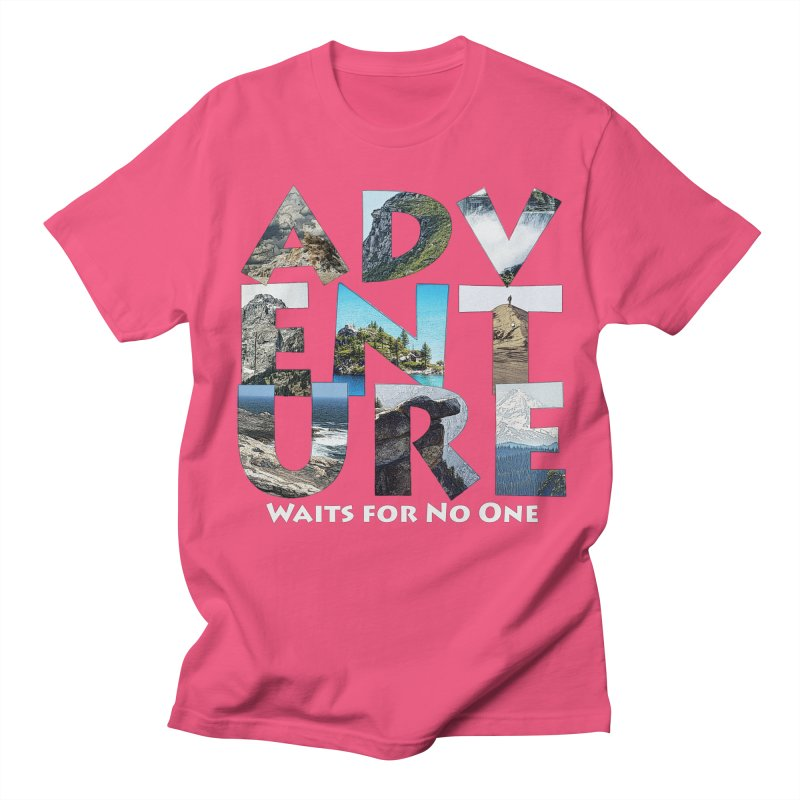 Adventure Waits for No One Men's Regular T-Shirt by Of The Wild by Kimberly J Tilley