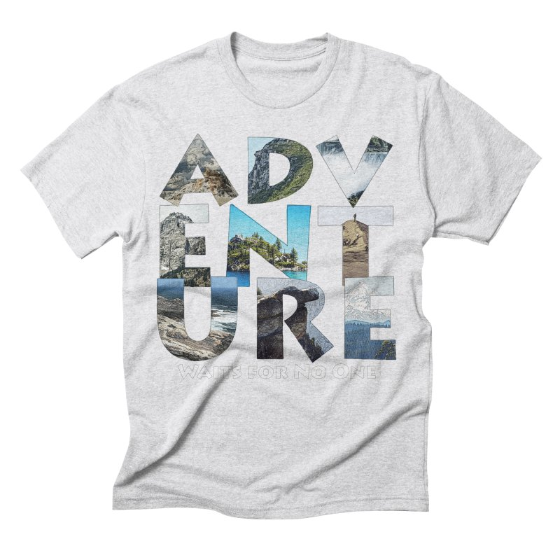 Adventure Waits for No One Men's Triblend T-Shirt by Of The Wild by Kimberly J Tilley