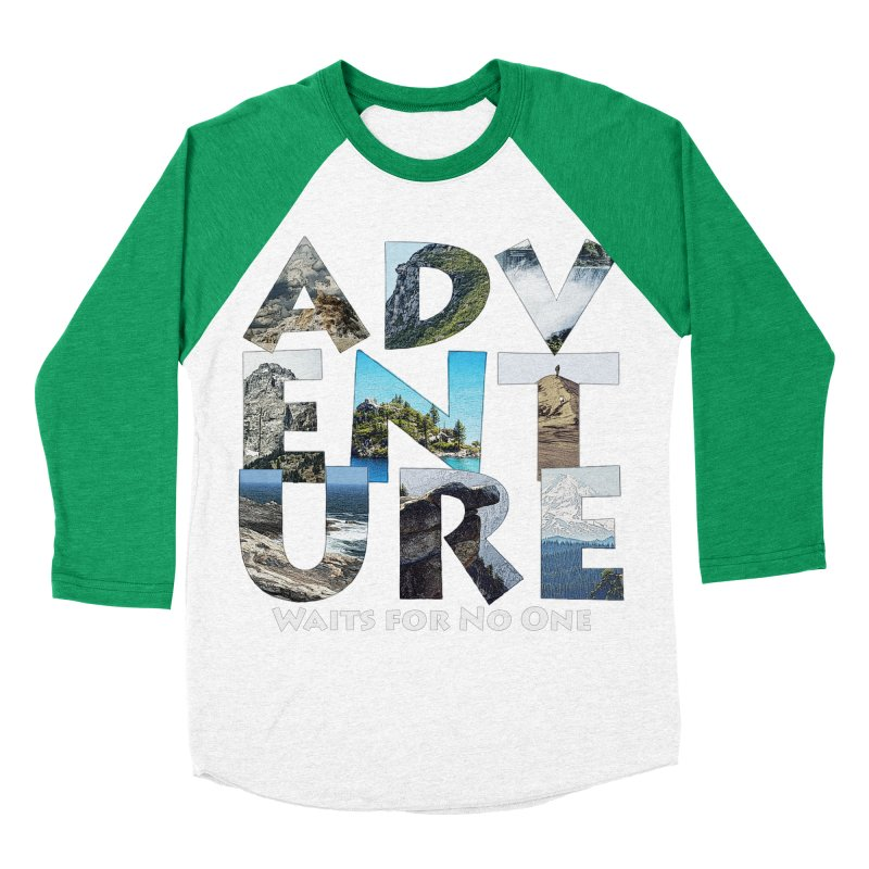 Adventure Waits for No One Women's Baseball Triblend Longsleeve T-Shirt by Of The Wild by Kimberly J Tilley