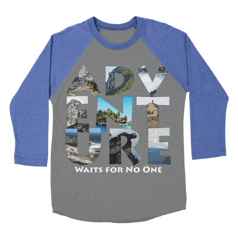 Adventure Waits for No One Men's Baseball Triblend Longsleeve T-Shirt by Of The Wild by Kimberly J Tilley