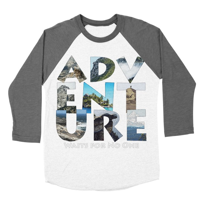 Adventure Waits for No One Men's Baseball Triblend T-Shirt by Of The Wild by Kimberly J Tilley