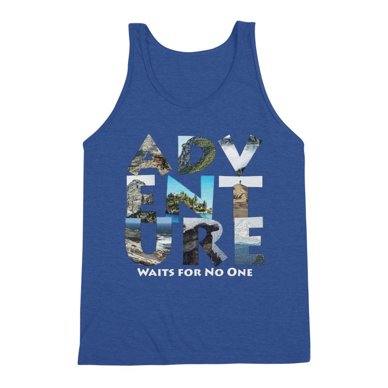 Adventure Waits for No One Men's Tank by Of The Wild by Kimberly J Tilley