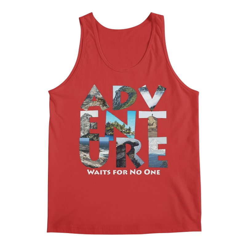 Adventure Waits for No One Men's Regular Tank by Of The Wild by Kimberly J Tilley