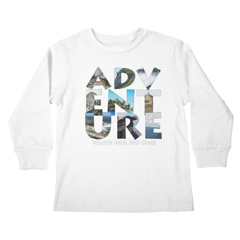 Adventure Waits for No One Kids Longsleeve T-Shirt by Of The Wild by Kimberly J Tilley