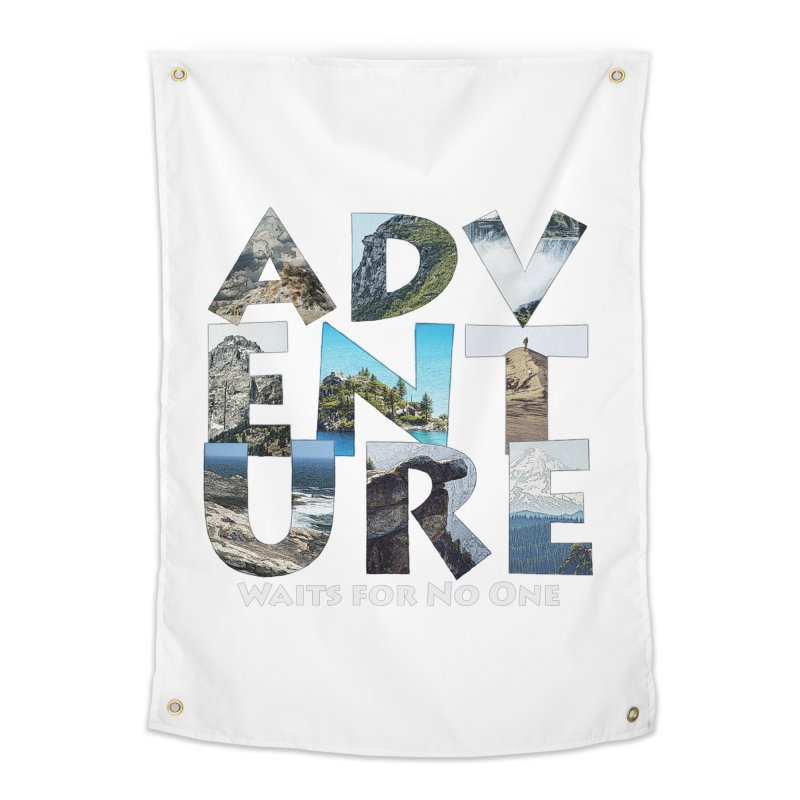 Adventure Waits for No One Home Tapestry by Of The Wild by Kimberly J Tilley