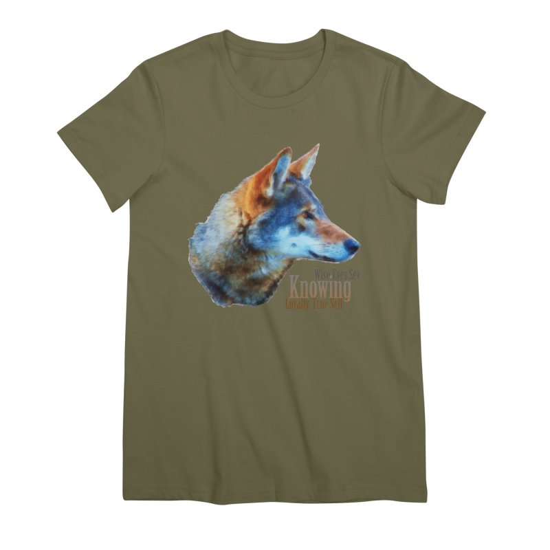 Knowing Women's Premium T-Shirt by Of The Wild by Kimberly J Tilley