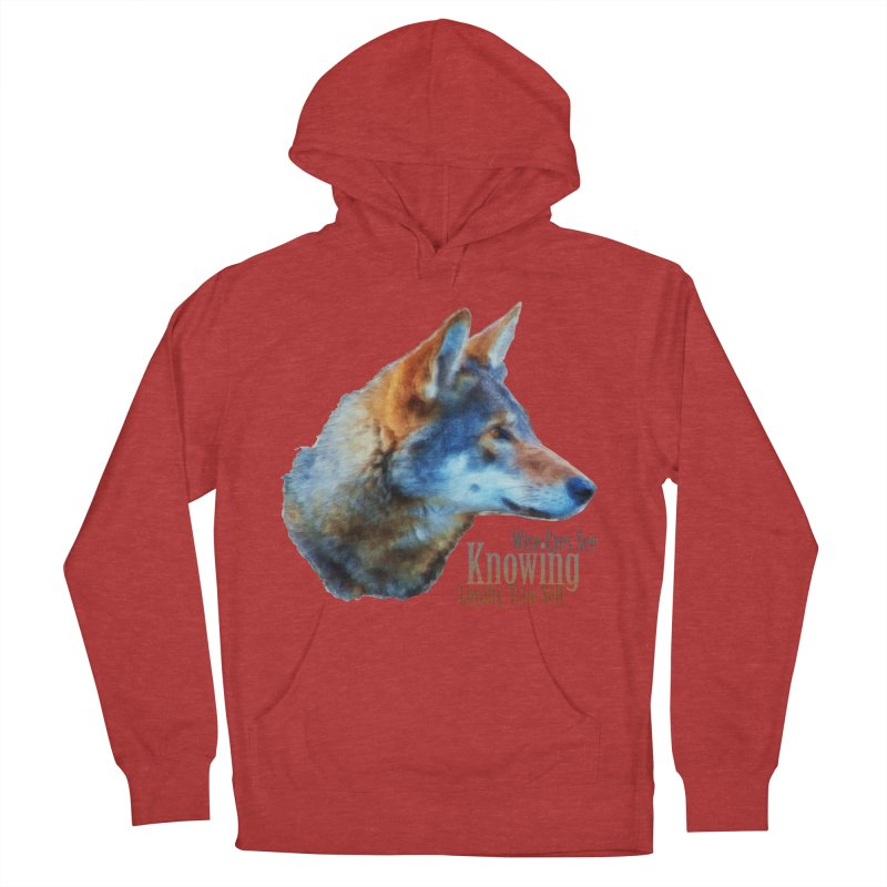 Knowing Women's French Terry Pullover Hoody by Of The Wild by Kimberly J Tilley