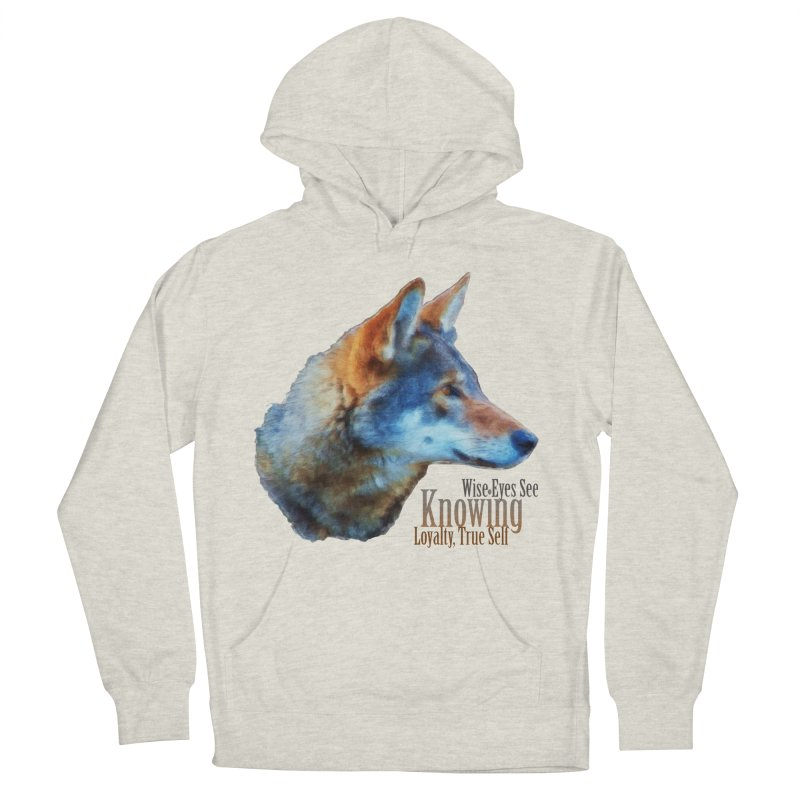 Knowing Men's French Terry Pullover Hoody by Of The Wild by Kimberly J Tilley