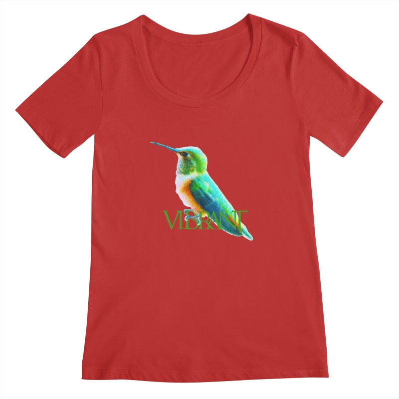 Young and Vibrant Women's Regular Scoop Neck by Of The Wild by Kimberly J Tilley