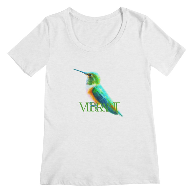 Young and Vibrant Women's Scoop Neck by Of The Wild by Kimberly J Tilley